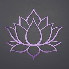 Lotus Flower Metal Wall Art with Amethyst Purple Finish. The perfect statement piece for your home, business or outdoor space. Among its many meanings and significance, the lotus development and Lotus Flower Art, Lotus Art, Flower Tattoos, Flower Wall, Lotus Kunst, Stencil Designs, String Art, Nail String, Lotus Tattoo