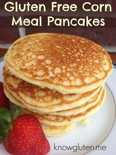 gluten free cornmeal pancakes from knowgluten.me