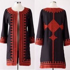 Mary McDonald – 10 Favorite Things: We'd like to fend off a bull or two with this fabulous Irving and Fine Kutch coat. Fashion 2017, Fashion Outfits, Fashion Shoes, Afghani Clothes, Mary Mcdonald, Mode Abaya, Afghan Dresses, Designs For Dresses, Pakistani Dress Design