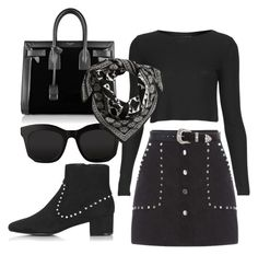 """""""."""" by fleetwood ❤ liked on Polyvore featuring Topshop, Yves Saint Laurent, STELLA McCARTNEY, H&M and B-Low the Belt"""
