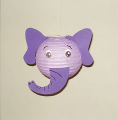 This Purple Elephant Paper Lantern. Safari Party Decorations Baby is just one of the custom, handmade pieces you'll find in our lighting shops. Elephant Baby Decor, Purple Elephant, Elephant Shower, Elephant Party, Elephant Birthday, Safari Party Decorations, Jungle Party, Paper Lanterns, Nursery Decor