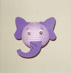 Elephant Paper Lantern. Safari Party Decorations, Baby Shower, Room Decor, nursery decor. Jungle party.