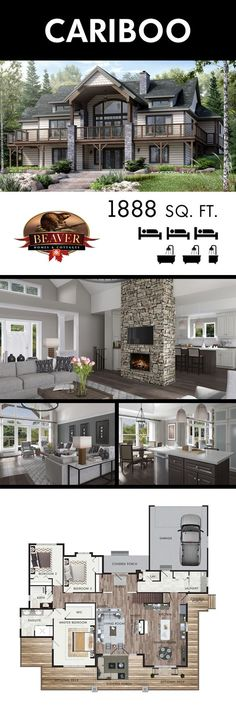 The perfect home to capture a breathtaking view. 2019 The perfect home to capture a breathtaking view. The post The perfect home to capture a breathtaking view. 2019 appeared first on Architecture Decor. Lake House Plans, Dream House Plans, Modern House Floor Plans, Beaver Homes And Cottages, Kitchen Layout Plans, Kitchen Ideas, Kitchen Small, Kitchen Modern, Kitchen Floor