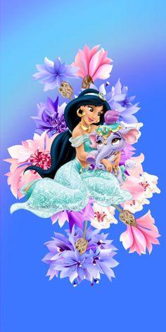 Princess Jasmine Art, Disney Princess Zodiac, Looney Tunes Wallpaper, Cartoon Wallpaper, Walt Disney Princesses, Flamingo Painting, Cute Disney Pictures, Pinturas Disney, Princess Coloring