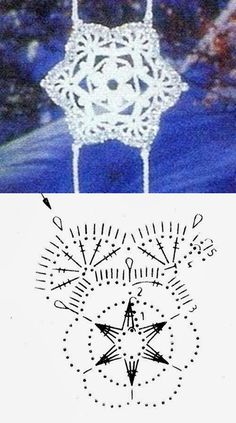 Crochet Snowflake Pattern, Crochet Stars, Crochet Snowflakes, Christmas Snowflakes, Christmas Star, Crochet Doilies, Christmas Ornaments, Crochet Diagram, Filet Crochet