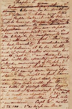 Jane Austen's handwriting / Chapter 24 of PERSUASION (Apparently not II as indicated.)