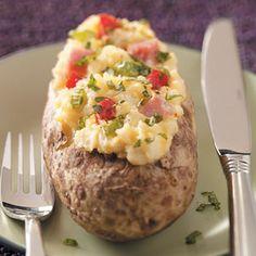 Ham & Cheese Stuffed Potatoes Recipe