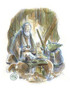 Tea Time on Dagobah - Star Wars - Mike Maihack