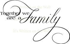 family Vinyl lettering Wall