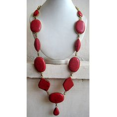 This listing is for Coral Bohemian Necklace / Statement Necklace / Bib Necklace - Beaded Jewelry ( 30 inched approx )    This is an exotic statement