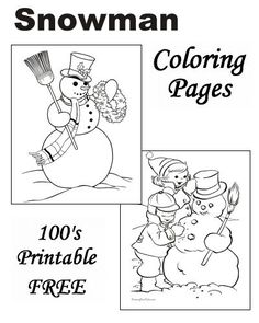 Snowman Coloring Pages For Kids #5804 | Pics to Color