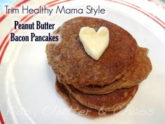 Trim Healthy Mama Peanut Butter Bacon Pancakes