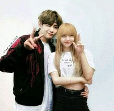 Meeting you has been the greatest sensation. Bts Jungkook And V, Blackpink And Bts, Kpop Couples, Cute Couples, Twice Video, Bts Girlfriends, Black Pink Kpop, Taehyung Fanart, Fake Pictures
