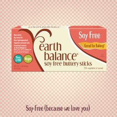 In response to the immense amount of enthusiasm and feedback for Earth Balance® products from our soy-sensitive fans, we decided to expand our product line to include a baking stick that's delicious, vegan, gluten- and dairy-free, and free of soy. #earthbalance #vegan