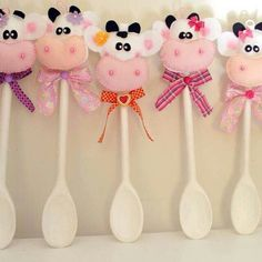 Cow wooden spoons