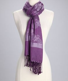 Take a look at this Purple Floral Amtal Scarf by Wrapped in Color: Scarves on #zulily today!