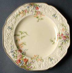 Crown Ducal Florentine made in england Rosalie side plate Vintage Dishware, Vintage Dinnerware, Vintage Plates, Vintage Dishes, Antique Dishes, Antique China, Vintage China, China Tea Cups, Dinner Sets