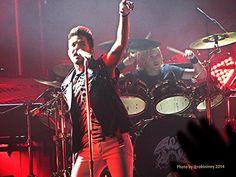 Adam Lambert and Rufus Tiger Taylor photo: Queen + Adam Lambert North American Tour 2014 - United Center, Chicago, IL - 6.19.2014