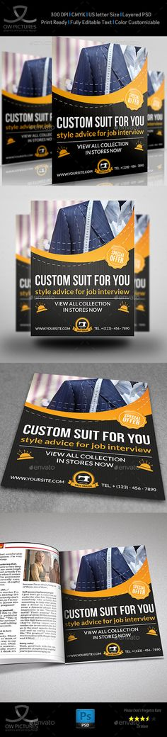 Tailor Fashion Flyer Template (CS, 8.5x11, beauty, brown, buddism, college…
