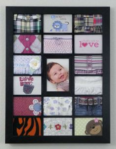 """Sweet Idea: The Non-Crafty Mom's Way to Preserve Baby Clothes - Sweet Phenomena - LOVE THIS! I still have them saved for """"Some day"""" when I learn to make a quilt!"""