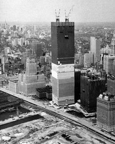Towers of the World Trade Center were built in immense pre-assembled pieces, each three stories tall, Jun.30, 1970. George Mattson/News The majestic Twin Towers that became synonymous with the romance, brashness, prosperity, glamour and raw energy of New York City were once the tallest buildings in the world. Designed by architect Minoru Yamasaki, they opened standing at 110 stories in 1973 and were both loved and loathed, depending on who you asked.