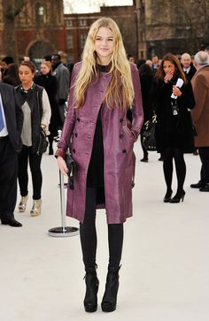 violet leather. Burberry.