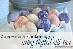 Zero mess Easter eggs