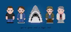 Jaws Movie Characters Digital PDF Cross by AmazingCrossStitch