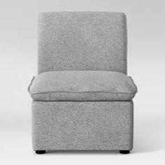 This straight-backed Gray Beckstand Lounge Chair from Project 62™ adds a comfortable spot to perch. It works great for a smaller living space by adding a great spot to sit around your home. The neutral gray tone will work with any decor you've already set in place. <br><br>1962 was a big year. Modernist design hit its peak and moved into homes across the country. And in Minnesota, Target was born — with the revolutionary idea to celebrate design for all. Pro...