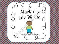 Martin's Big Words product from Butterdreamsandbindings on TeachersNotebook.com