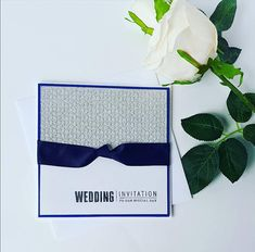 navy blue and silver wedding invite, royal blue and silver invitation, stylish wedding invitation, s Handmade Card Making, Handmade Cards, Handmade Gifts, Classic Wedding Invitations, Wedding Stationery, Special Day, My Etsy Shop, Simple, Unique Jewelry