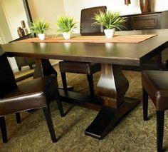 """Rectangular Trestle Table  Available in 72"""" and 84"""" long. All tables are 42"""" wide."""