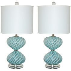 Pair of Vintage Murano Bedside Lamps by Dino Martens   From a unique collection of antique and modern table lamps at http://www.1stdibs.com/furniture/lighting/table-lamps/