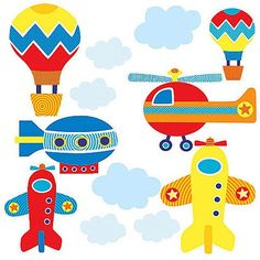 Wallies 15223 Up, Up, and Away Wallpaper Mural, 2-Sheet -- Quickly view this special product, click the image : Christmas Decorations