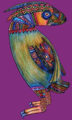 Mexican Art Alebrije Parrot by Cynthia Cabello