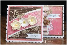 Scrap & Craft pretty Butterfly cards using products from http://scrapandcraft.co.uk/ #butterfly's #flowers #chipboard