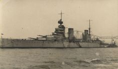 Postcard of 13.5 in battlecruiser HMS Lion in the Firth of Forth, produced to celebrate Britain's victory in the first naval engagement of WW1 at Heligoland Bight on 28 August 1914, where she was flagship of Vice Admiral Sir David Beatty - as she was to be at Dogger Bank in 1915 and Jutland in 1916.