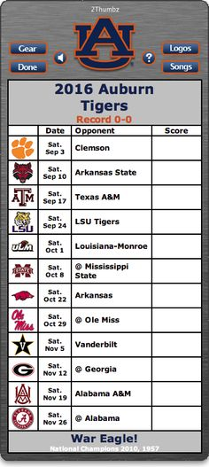 BACK OF MAC APP - 2016 Auburn Tigers Football Schedule App - War Eagle! - National Champions 2010, 1957  http://2thumbzmac.com/teamPages/Auburn_Tigers.htm