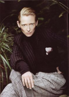 Tilda Swinton - L'Uomo Vogue by Paolo Roversi, September 2008