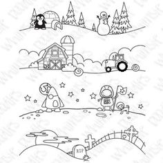 Whimsie Doodles Digital Stamps: Check out the scenery!