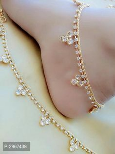 American Diamond Fancy Anklet For Woman by Rupalishop - Online shopping for Anklets & Toe Rings on MyShopPrime - Stylish Jewelry, Cute Jewelry, Fashion Jewelry, Ankle Jewelry, Women's Jewelry, Body Jewelry, Gold Anklet, Silver Anklets, Women's Anklets