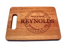 Personalized / Engraved Cutting Board - Long Last Name