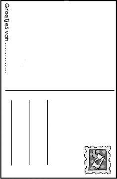 Laddercompetitie/uitdaagspel in teken van 'Wereld in het klein': Teken en schrijf een postkaart vanuit een bepaald land