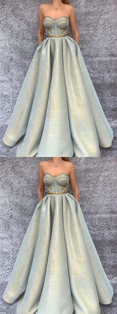 2018 CHIC A-LINE PROM DRESSES SWEETHEART MODEST LONG PROM DRESS EVENING DRESSES M2441