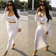 Kim Kardashian was spotted at LAX airport on Saturday