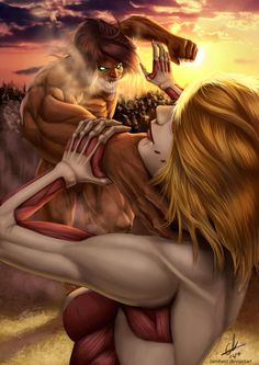 - Attack on Titan - Annie vs Eren
