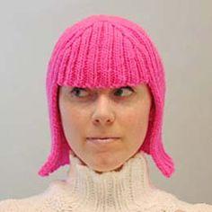 Pink wooly hair!