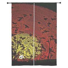Bloody Sunrise Curtains