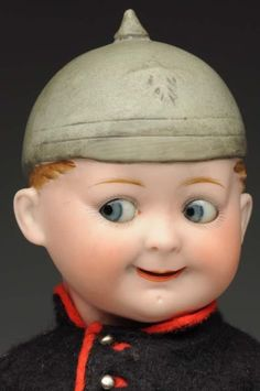 Lot # : 138 - Rare Googly Doll With Molded Hat.