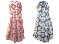 Scarf - Fig Print Fair Trade Jewelry, Jewelry Roll, Fig, Floral Tie, Indigo, Rolls, Jewellery, Beautiful, Style